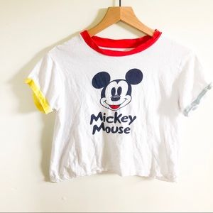 90s Mickey Mouse Ringer T-shirt